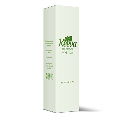 Tea Tree Oil Acne Serum by Keeva - Treats Blemishes, Spots, Scars, Bacne, Pimples, Blackheads, Whiteheads with Natural & Organic Ingredients Only - Face Products Gift, Natural Gifts For Women