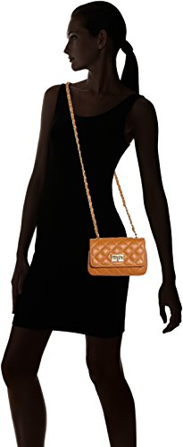100 Quilted Bag Made Italian Italy Orange Leather Purse Cuoio 19x13x6cm Classic Women CTM in Genuine Clutch 5nUqwI8PYx