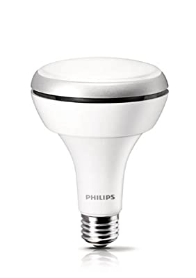 Philips 425306 8.5 Watt (65-Watt) BR30 Indoor Daylight (5000K) LED Flood Light Bulb, Dimmable