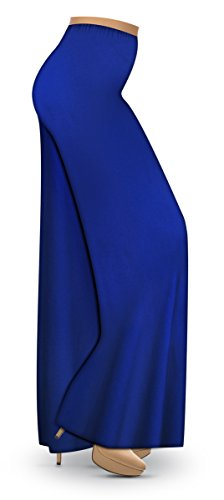 Royal Blue Slinky Wide Leg Plus Size Supersize Palazzo Pants 1xT