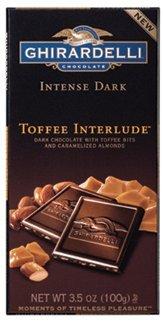 Ghirardelli Intense Dark - Toffee Interlude, 3.5 oz, 12 count