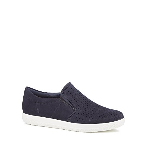 Navy Trainers 'Soft On ECCO Womens Slip 1' Suede Z5PqPan4z