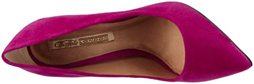 Buffalo London 533X-090 - Zapatos de tacón para mujer Rosa (Magenta 07)