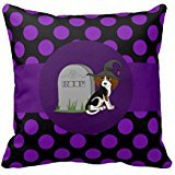 Beagle Puppy With Grave Stone Purple Dots Throw Re12a030f8624490e8b145e47989d55cc I5fqz 8byvr Pillow (Gravestone Sayings)