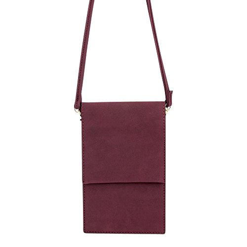 Women Mini Cell Purse Body Smartphone Burgandy 1 Phone Bags Bysummer for Cross gzfqwdd