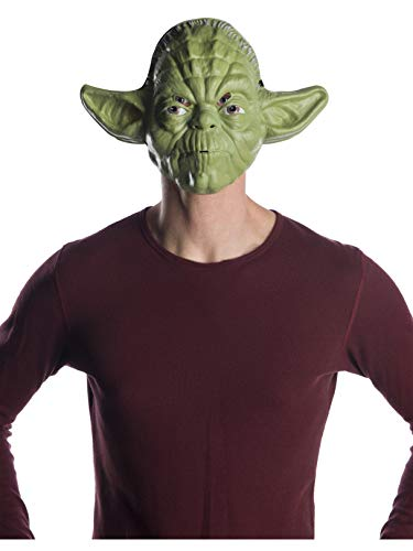 Rubie's Costume Co Unisex-Adults Star Wars Classic Ben Cooper Yoda Mask, As Shown, One -