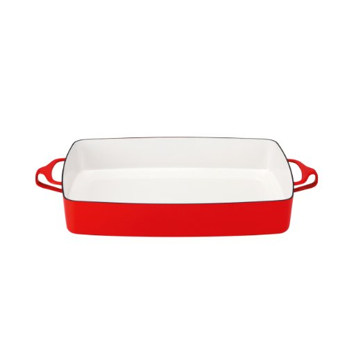 Discount Cookware (Dansk 834297 Kobenstyle Rectangular Baker, Chili Red)