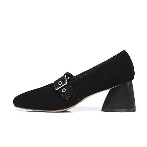 Mujer Tacón Mms06503 Zapatos Uretano Para 1to9 Negro De t8wYxZ