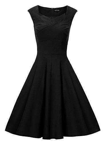 Gigileer - Vestido de algodón para mujer, estilo vintage, años 50 Blaue(modell 2#)