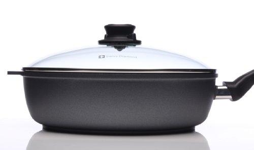 "31uKtn3 otL - Swiss Diamond Nonstick Saute Pan with Lid - 4.3 qt (11"")"