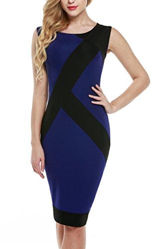ZEARO Damen Bodycon Sexy Elegant Abendkleider Partykleider Etuikleid ...