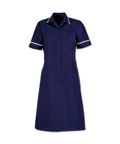 Alexandra Workwear Womens Zip Front Healthcare Dress Sailor Navy 18 S