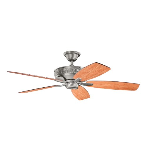 Kichler 339013Bap Monarch Ii 52In Energy Star Ceiling Fan  Burnished Antique Pewter Finish With Reversible Light Cherry Dark Cherry Wood Blades