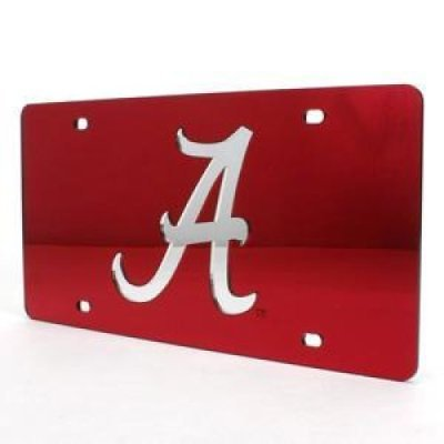 Stockdale Alabama Inlaid Acrylic License Plate - a -