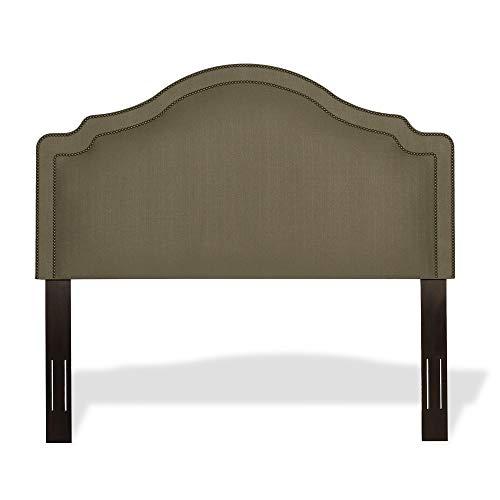Leggett & Platt Versailles Upholstered Headboard with Adjustable Height and Nailhead Trim, Brown Sugar Finish, King / California King