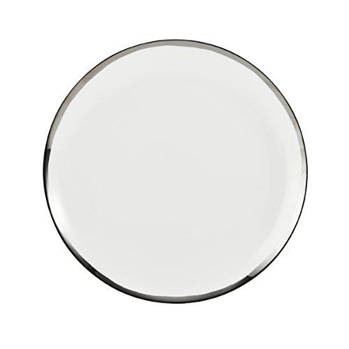 Mikasa Blakeslee Platinum Bone China Dinner Plate, 10.75-Inch