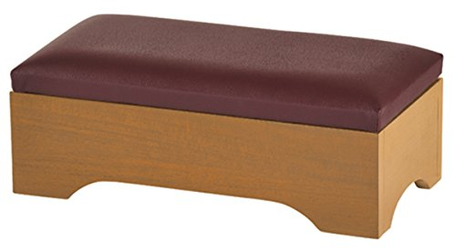 Maple Hardwood Personal Bed Time Kneeler with Storage, Pecan Stain, 20 Inch