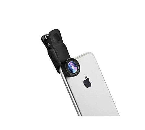 hoco. Cell Phones Camera Lens Clip 2 in 1 Kit Wide Angle 0.65 Macro Zoom 10X Universal for Smartphones Android iPhone Samsung and Tablets (Black) by hoco.