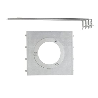 "All in One New Construction Recessed Lighting Mounting Plate, 4x 12"" Hanger Bars, Aluminum Finish, Globe Electric 90141"