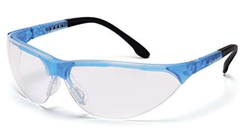 Pyramex Rendezvous Safety Eyewear, Clear Lens With Crystal Blue Frame