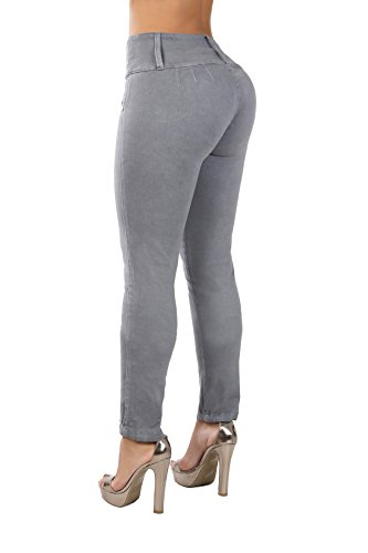 Curvify Stretch Jean 767 - A Butt Lifting Skinny Jeans for Women - No Back Pockets (767, Gray, 5)