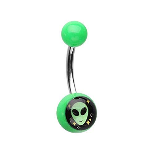 (Covet Jewelry Out of This World Alien Acrylic Logo Belly Button)