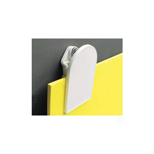 logo White Plastic Jumbo Clip message //Size:75x50mm for Board
