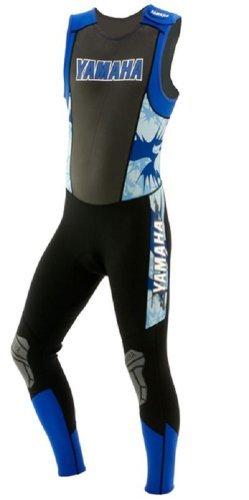 Yamaha Wetsuit (Yamaha OEM Men's Mod Print John Wetsuit. Stretch Ankle Panels. Velcro Shoulder Closure. MAR-09NJH)