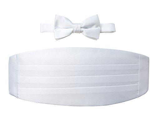 Satin Cummerbund (Spring Notion Big Boys' Cummerbund and Bow Tie Set L White)