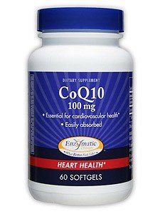 Enzymatic Therapy - CoQ10 100 mg 60 gels (Pack of 6) by Enzymatic