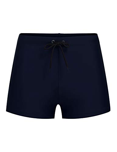 2b1b8827fc COOFANDY Men's Swimming Trunk Surf Board Shorts Quick Dry Boxer Brief  Swimsuit Navy Blue