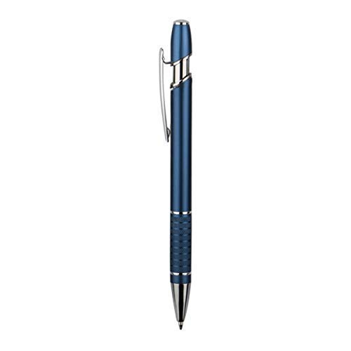 Executive Metal BallPoint Pen (Pack of 25) - Medium Point Blue Writing Ink - Stylish & Classic Design Personalized Custom Engraved Promotional Pen Set (Blue) - by Blue Apple]()