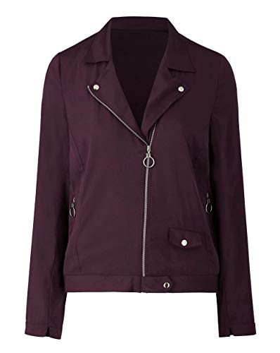 Mulberry Jacket Biker Simply Be Womens Lightweight XwH11gTq