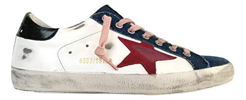 Golden-Goose-Superstar-Denim-ToeLeather-Upper-Suede-Star