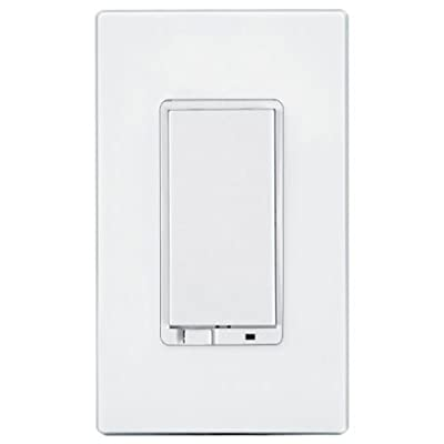 GE 12728 Wireless Lighting Control Add-On Toggle Style Switch, White, for GE Z-Wave, ZigBee, and Bluetooth Connected Home Products by GE