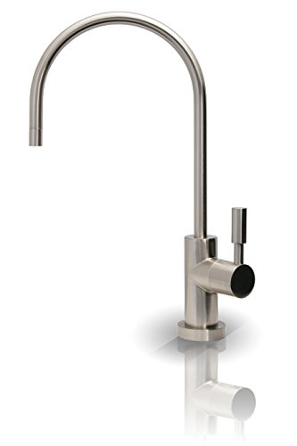 APEC Water Systems FAUCET-CD-NP Kitchen Drinking Water Designer Faucet for Reverse Osmosis and Water Filtration Systems, Non-Air Gap Lead-Free, Brushed Nickel Ceramic Disc Kitchen Faucet