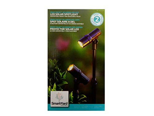 SmartYard LED Solar Spotlight 2 Pack - Focus Outdoor Spotlight