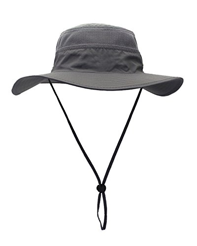 36413ba765308 Mazo Quick-Dry Sun Hat Breathable Mesh Camping Hat Outdoor Fishing Cap(Gary)