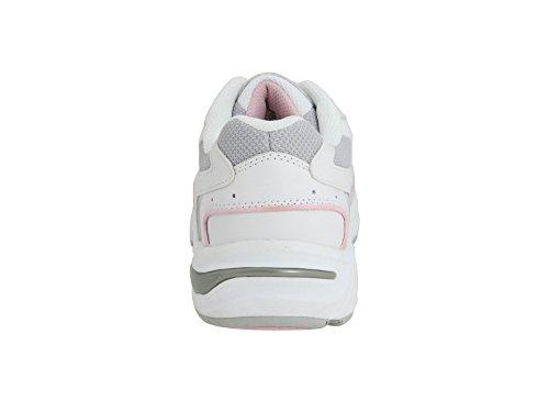Vionic Womens Walker Classic Shoes Bianco / Rosa / Grigio
