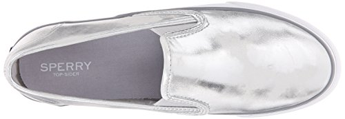 Sperry Damen Seaside Metallic Sneakers Silber (argento)