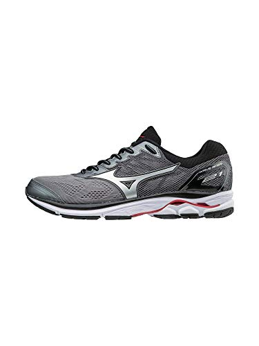 Mizuno Wave Rider 21 Men's Running Shoes, Quiet Shade/Silver, 10 D US