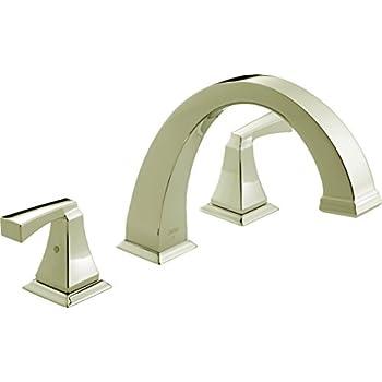 Image of Home Improvements Delta Faucet T2751-PN Dryden Roman Tub Trim, Polished Nickel