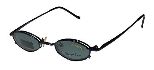 Smart Clip 602 Mens/Womens Rx Ready Designer Full-rim Spring Hinges Sunglass Lens Clip-Ons Eyeglasses/Spectacles (42-23-140, (Zoot Suit Costume Tie)