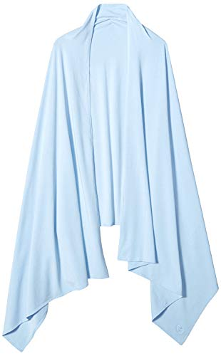 Coolibar UPF 50+ Womens Everyday Beach Shawl - Sun Protective (One Size- Vintage Blue)