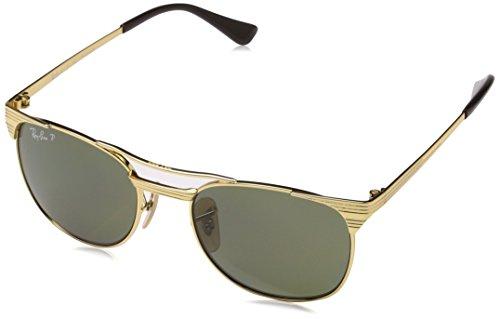 Ray-Ban Kids'Signet Junior RJ9540S 223/9A Polarized Sunglasses, Gold/Green Classic, 47 - Ban Gold Ray Aviator Junior
