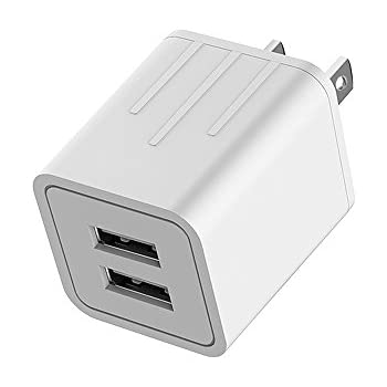 Wall Charger, 4.2A 21W Dual USB Universal Portable Charger with Smart Technology, for iPhone 7 6/6S Plus, 5/5S, iPad Pro, Galaxy S7, S6 Edge Plus, S5, Nexus, HTC & more [1-PACK]
