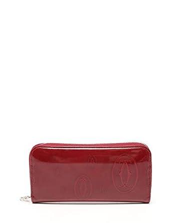 0abb746451af Amazon.co.jp: (カルティエ) Cartier ハッピーバースデー ラウンドファスナー長財布 エナメルレザー ボルドー L3001283  中古: 服&ファッション小物