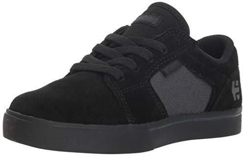 Etnies Unisex Barge LS Skate Shoe, Black/Grey, 2.5C Medium US Big Kid