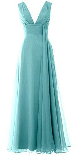 Turquoise MACloth a linea Senza ad Vestito Donna maniche Fq4wzf