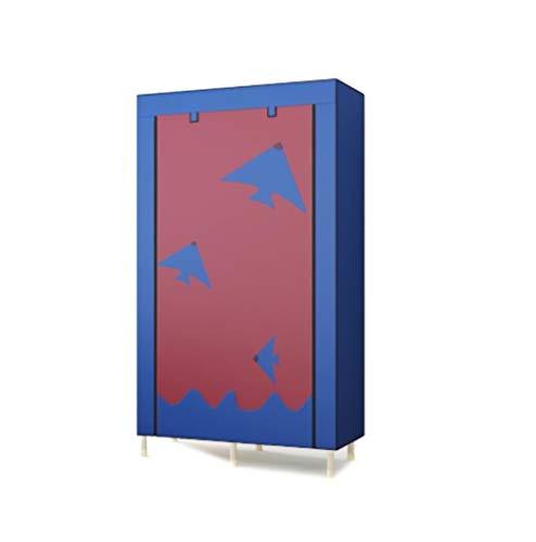 (ALWUD Portable Wardrobe Clothes Storage Organizer, Non-Woven Fabric Closet Shelves 25mm Stainless Steel 4 Grid Wardrobe Storage Cabinet,D_41x75x19inch)